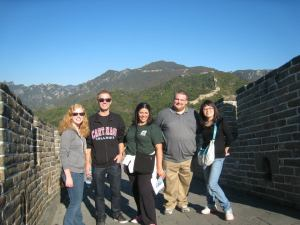 Visiting the Great Wall Mutianyu in Huairou.